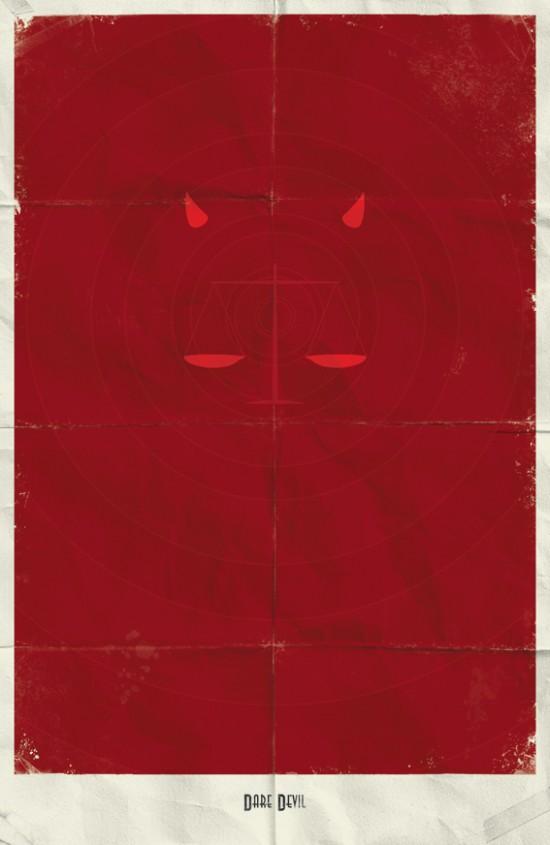 Posters minimalistas marvel