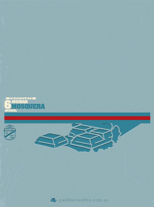 Posters minimalistas futbol argentino