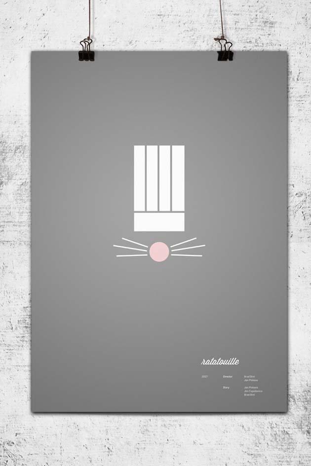 Posters minimalistas pixar