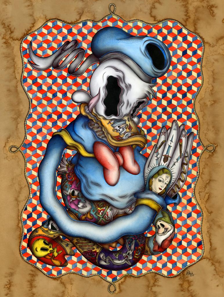 caricaturas tatuadas
