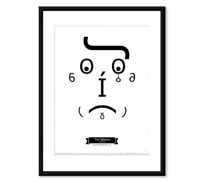 Caras con tipografía