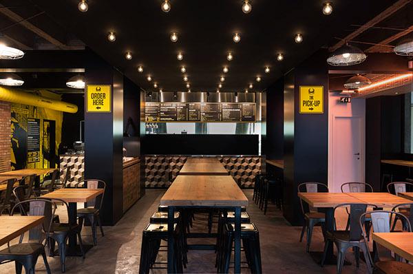 Espectaculares dise os de restaurantes de hamburguesas de for Disenos de interiores restaurantes