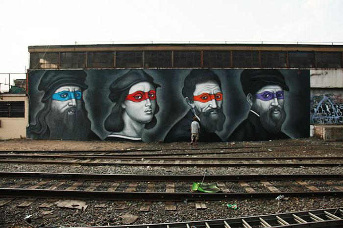 tortugas_ninja_pintores_renacentistas_mural_new_york_1
