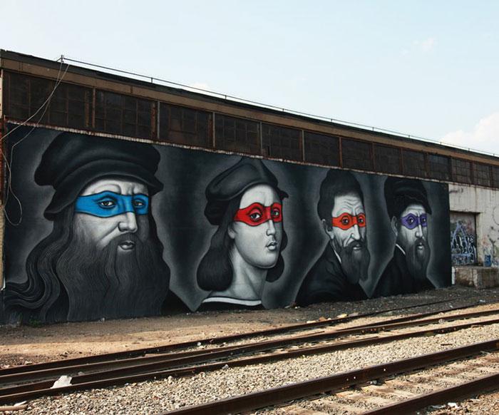 tortugas_ninja_pintores_renacentistas_mural_new_york_2