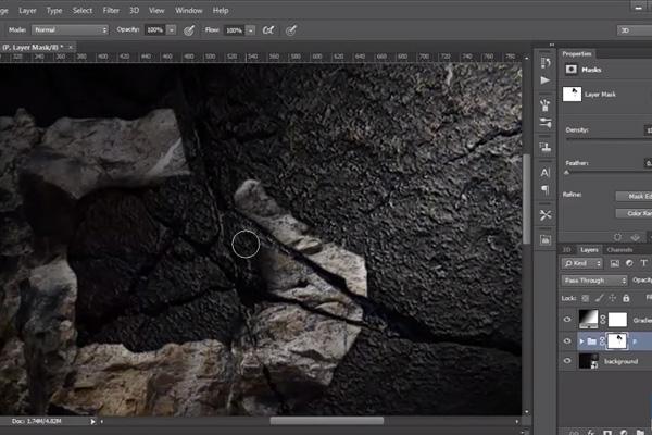 C mo crear un efecto de pintura digital en photoshop for Pintura efecto piedra
