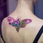 Impactantes diseños de tatuajes con doble exposición