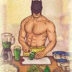 La vida saludable de los superhéroes ilustrada