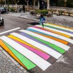 Las sendas peatonales de Madrid convertidas en coloridas obras de arte