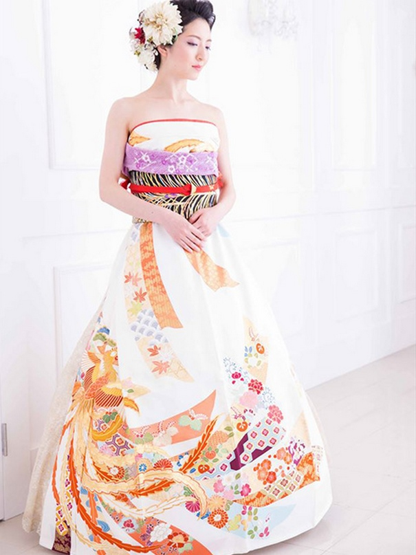 Vestidos de novia con kimono