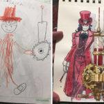 Papá convierte los dibujos de su hijo en espectaculares personajes de Animé