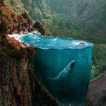 Este artista combina dos fotografías para crear una escena imposible