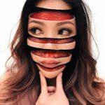 Una ex maestra utiliza maquillaje para dividir a la gente en pedazos