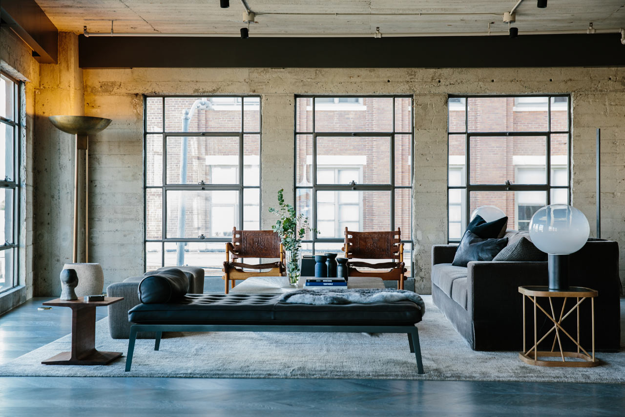 Un espectacular loft industrial redise ado en el distrito for Manapat interior landscape designs