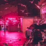 Fotografías nocturnas de la ciudad bañadas en neón