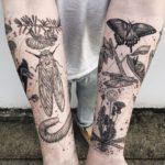 Flora, fauna, cosmos y geometría combinados en estos impactantes tatuajes