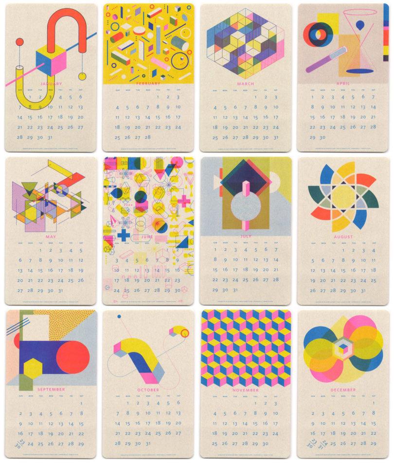 15 diseños de calendarios creativos para 2018