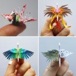 Este artista creó una nueva grulla de papel durante 1000 días