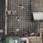 La vida cotidiana de los habitantes de Hong Kong desde la azotea