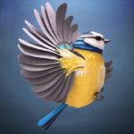 Coloridas esculturas de animales 3D creadas en papel