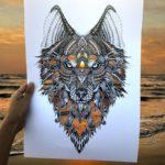 Artista crea recortes de animales y deja que la naturaleza llene el resto