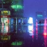 Fotografías de Milán de noche con una estética Blade Runner