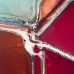 Fotos aéreas de estanques de sal parecen pinturas abstractas