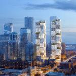 Un proyecto de edificios en Vancouver parecen torres de Jenga