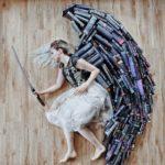 Amante de los libros transforma su biblioteca en obras de arte