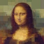 Históricas pinturas reinventadas con efecto pixelado