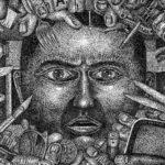 1440 retratos emergen de un dibujo de una sola tinta