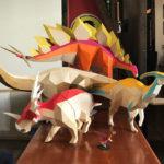 Fabulosos dinosaurios 3D creados en papel