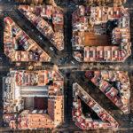 Fotografías aéreas exploran la geometría en la costa de Barcelona