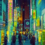 Fotografías de Tokio con estilo Blade Runner