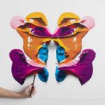 Manchas de Rorschach hiperrealistas creadas con lápiz