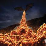 Fuego de un dragón de Daenerys en la campaña publicitaria de KFC