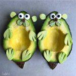 Creativos personajes creados con frutas y verduras