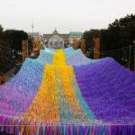 120 mil cintas flamean en Berlin para celebrar los 30 años de la caída del muro